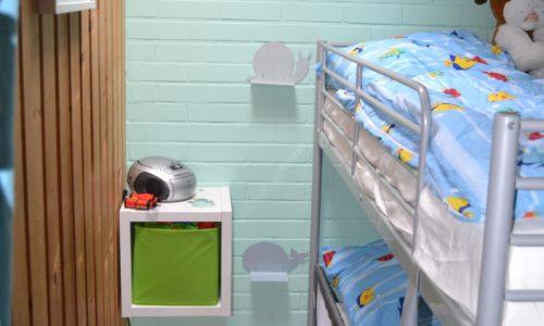 Kinderzimmer mit drei Schlafplätzen